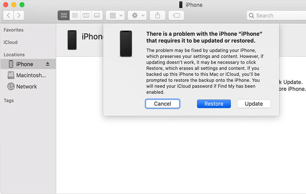 iPhone is disabled and restore is easy to do - 10