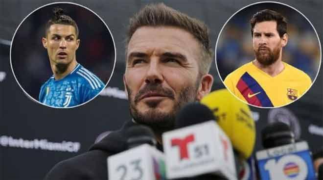 Beckham lại mời Ronaldo đá chung đội với Messi, bạn gái CR7