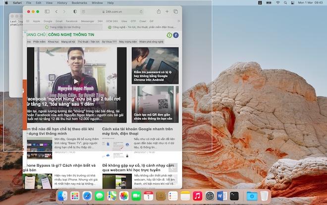 Cách chụp ảnh màn hình và thay đổi nơi lưu, tên file trên macOS - 1