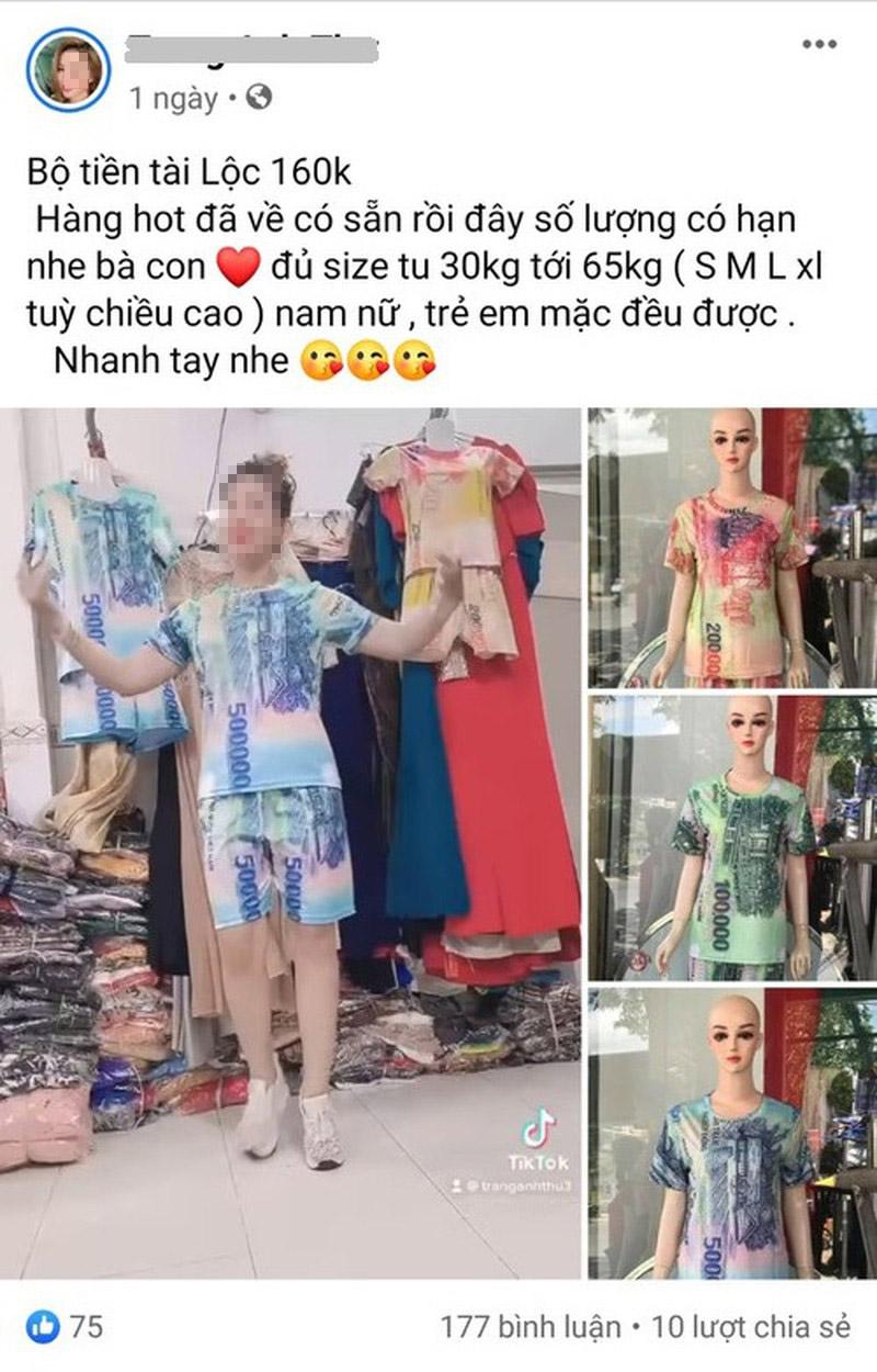 Bán quần áo in hình tiền Việt Nam: Bị phạt đến 50 triệu đồng - 1
