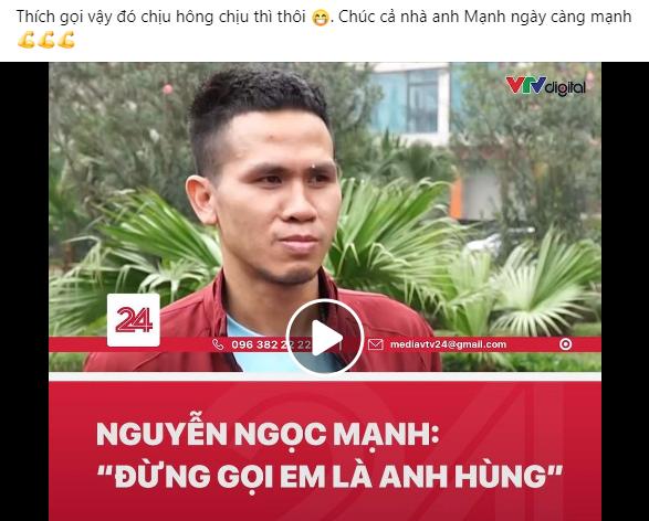 """Nguyễn Ngọc Mạnh không nhận làm anh hùng, Đen Vâu nói 1 câu """"gây sốt mạng"""" - 1"""