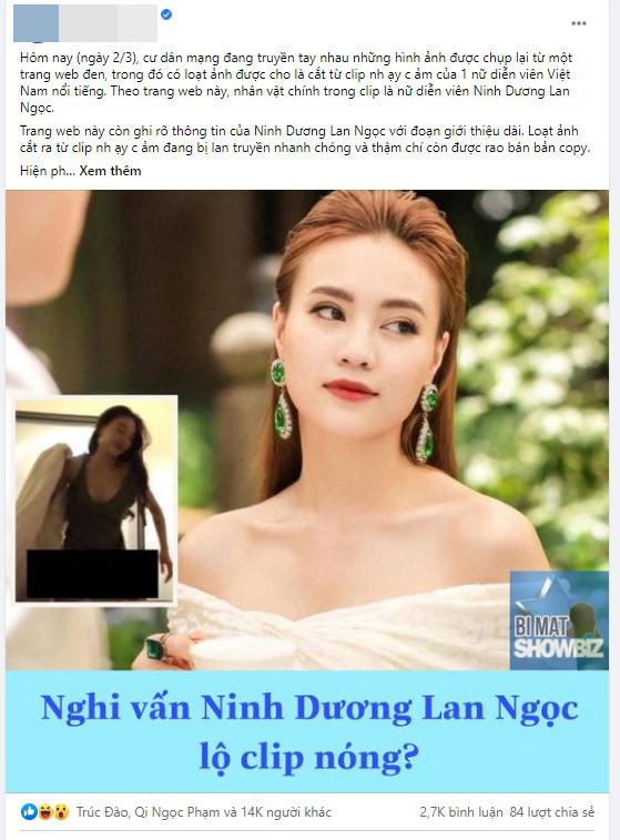 """Ninh Dương Lan Ngọc bác bỏ nghi vấn lộ """"clip nóng"""" trên web đen - 1"""