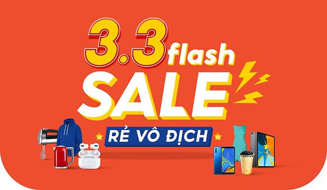 """Chào tháng ba, Shopee """"chơi lớn"""" khai hội 3.3 Flash Sale Rẻ Vô Địch - 1"""