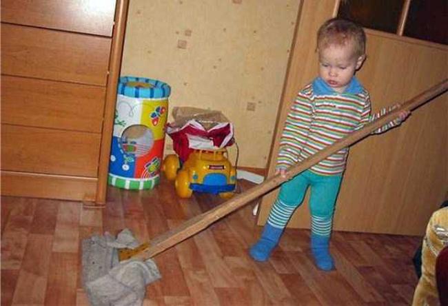 Làm việc nhà cho quen thôi, không sớm thì muộn cũng đến tay mà.