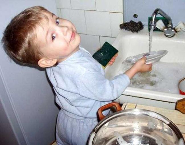 Rửa bát là chuyện nhỏ nhé.