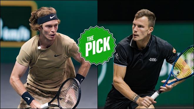 """Video tennis Fucsovics - Rublev: Vượt khó loạt """"đấu súng"""", rực rỡ vinh quang (CK Rotterdam Open) - 1"""
