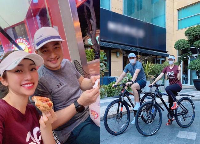 Sao Việt thích thú với những bức hình đạp xe, khoe cá tính thời trang theo nhiều phong cách khác nhau.