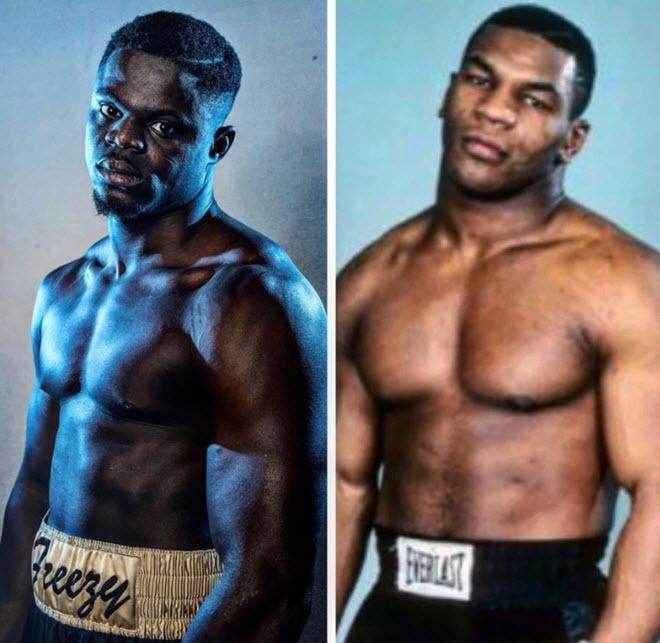 """Phát khiếp """"Mike Tyson"""" mới đấm đối thủ ngã ngửa, nhấc bổng Joshua - 1"""