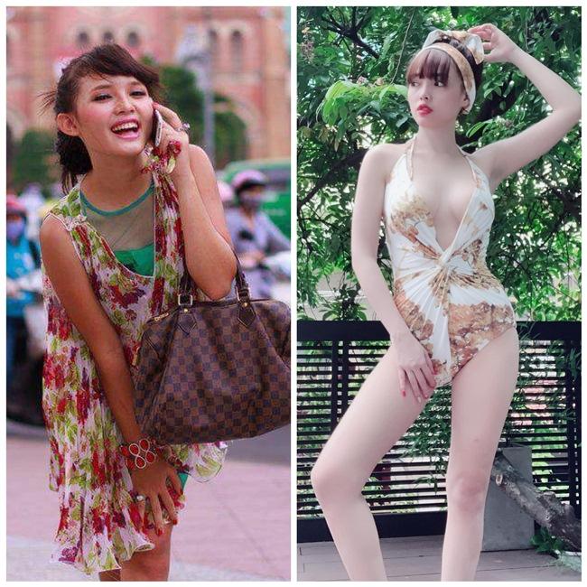 Cách đây không lâu, cựu hot girl Việt Huê - bà xã Lê Hoàng (The Men) chia sẻ hình ảnh so sánh hiện tại và quá khứ thu hút sự chú ý của cư dân mạng. Trước đây, hot girl 9X có làn da bánh mật, đen nhẻm song bù lại cô sở hữu nụ cười rạng rỡ, gương mặt xinh xắn. Giờ đây, Việt Huê đã lột xác thành bà mẹ hai con gợi cảm, có làn da trắng không tỳ vết.