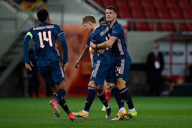 Kết quả Europa League, Olympiakos - Arsenal: 2 tuyệt phẩm sút xa, gần chắc vé đi tiếp - 1