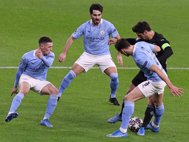 Kết quả bóng đá Cúp C1, Man City - Monchengladbach: 2 bàn chóng vánh, 5 phút định đoạt - 1