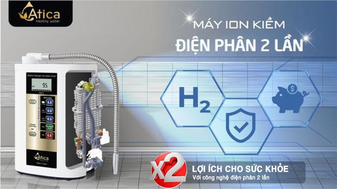Sở hữu máy lọc nước ion kiềm điện phân 2 làm giàu hydro nổi tiếng Nhật Bản - 1