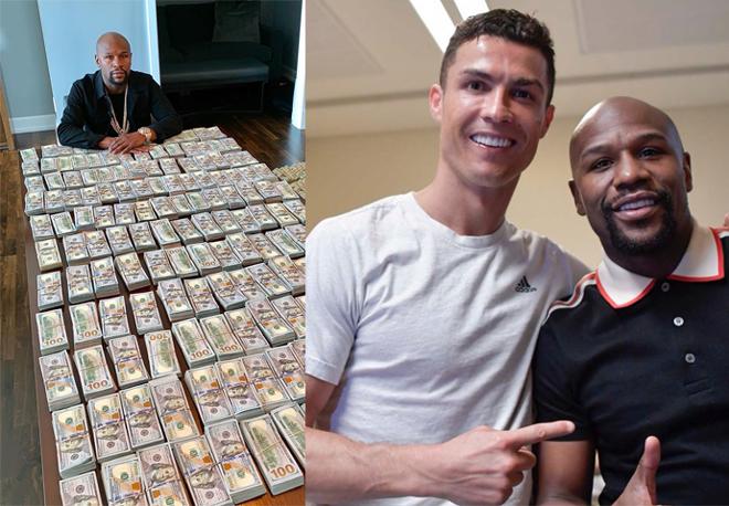 """Mayweather """"tiêu tiền như phá"""", không còn là tỷ phú vẫn giàu hơn Ronaldo - 1"""