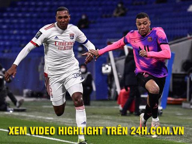 Video Lyon - PSG: Mbappe rực sáng, tiệc 6 bàn đánh chiếm ngôi đầu