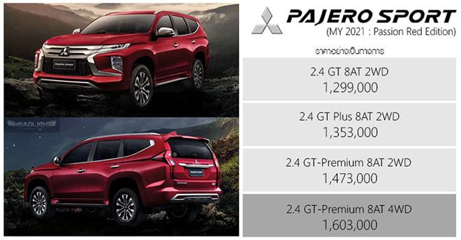 Ra mắt Mitsubishi Pajero Sport 2021 Passion Red Edition, giá từ 971 triệu đồng - 3