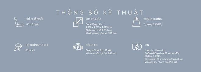 """Thông số chi tiết ô tô thuần điện """"made in Vietnam"""" VinFast VFe34 - 3"""