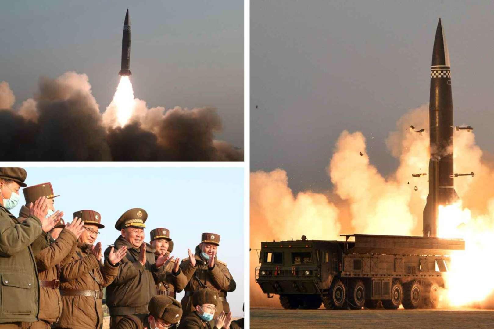 Triều Tiên tung ảnh phóng tên lửa mới có đầu đạn 2,5 tấn sau khi ông Biden cảnh báo - 1