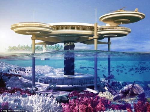 """Khách sạn dưới biển """"thách thức"""" sóng thần - 1"""