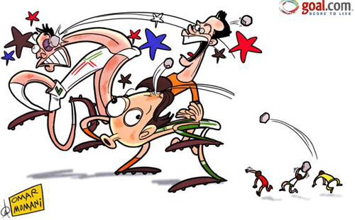 """Biếm họa Euro 2012: Davids """"đập"""" Goliaths - 1"""