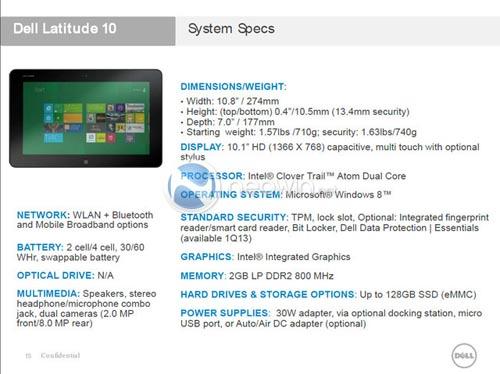 Dell lộ diện tablet chạy Windows 8 - 1