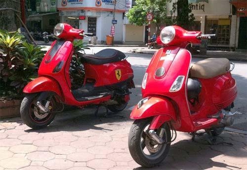 Vespa LX độ phong cách Ferrari độc đáo ở Hà Nội - 1