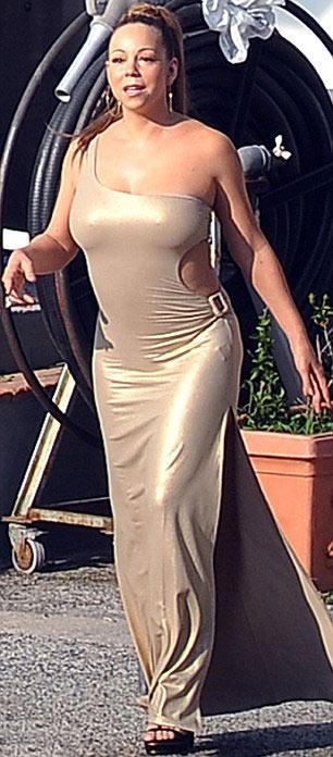 Mariah Carey lộ thân phản cảm - 1