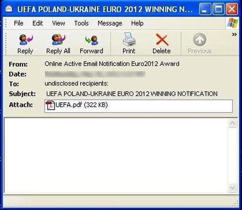 """Dùng UEFA EURO 2012 """"bẫy"""" người nhẹ dạ - 1"""
