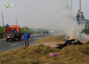 Người Hà Nội ngộp thở vì khói rơm rạ - 1