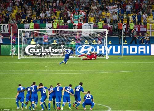 """CĐV Anh tụt quần """"dọa"""" Italia trong loạt 11m - 1"""