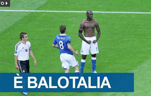 Người hùng Balotelli tràn ngập mặt báo Italia - 1