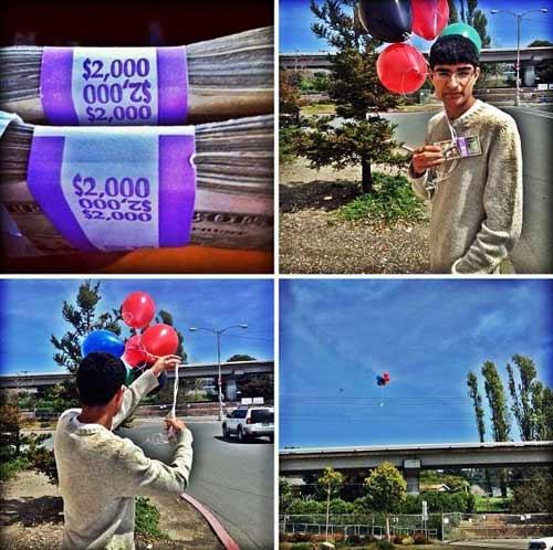 Buộc vào bóng bay vứt 1,26 tỷ đồng - 1