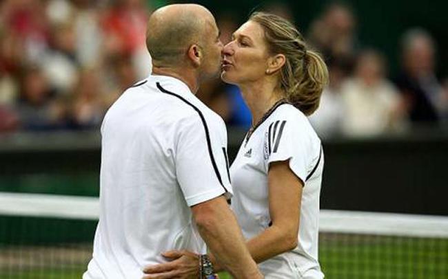 Cặp đôi huyền thoại của làng quần vợt, Andre Agassi và Steffi Graf.