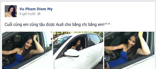 Diễm My 9X sắm Audi A4 bạc tỷ - 1