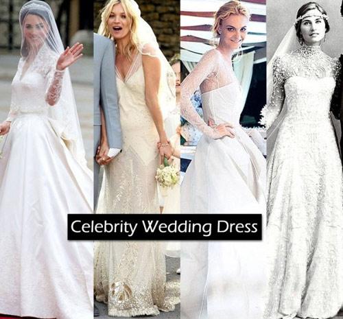 Bóc mác váy cưới của mỹ nhân thế giới - 1