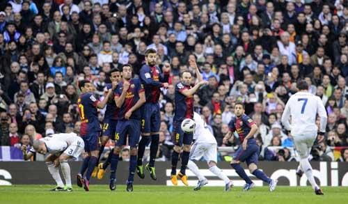 Ronaldo – Messi đọ tài đá phạt thần sầu - 1