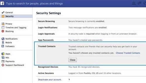Cách lấy lại mật khẩu Facebook nhờ bạn bè - 1