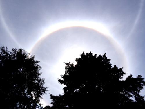 Quầng sáng lạ trên bầu trời Đà Lạt - 1