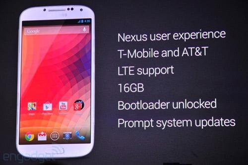 Google ra mắt Galaxy S4 không khóa mạng - 1