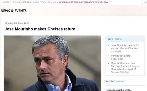 """Premier League """"xác nhận"""" Mourinho về Chelsea - 1"""