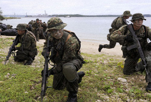 TQ phản đối, Mỹ-Nhật vẫn tập trận chiếm đảo - 1