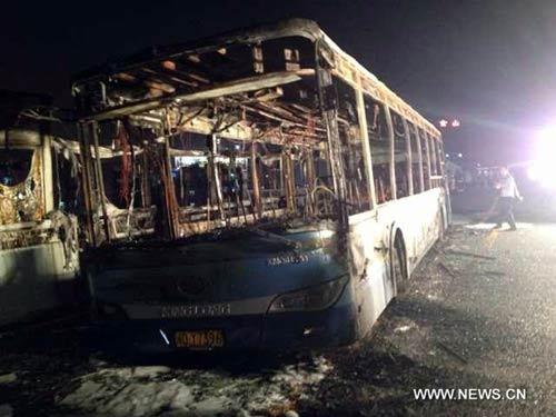 TQ: Xe bus bốc cháy, 42 người chết - 1