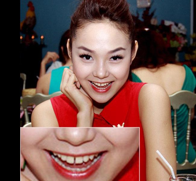 Minh Hằng sở hữu hàm răng thưa nhưng vẫn rất dễ thương