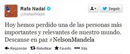 """Nadal """"bé cái nhầm"""" Mandela qua đời - 1"""