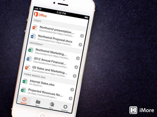 Microsoft phát hành Office cho iPhone - 1