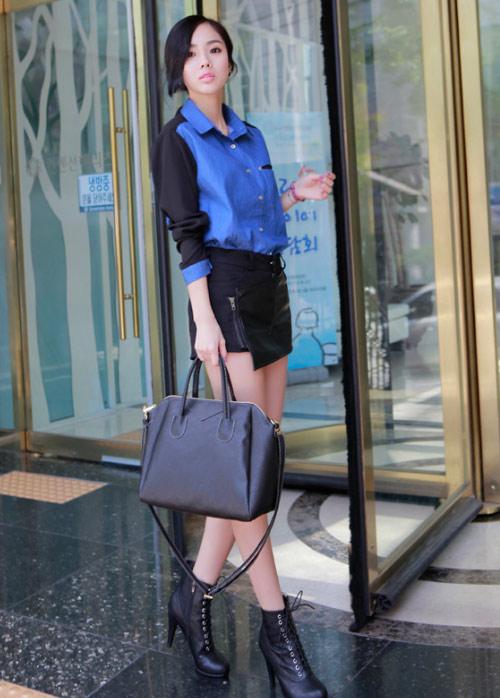 Váy ngắn tung tăng trên phố mùa hè - 1