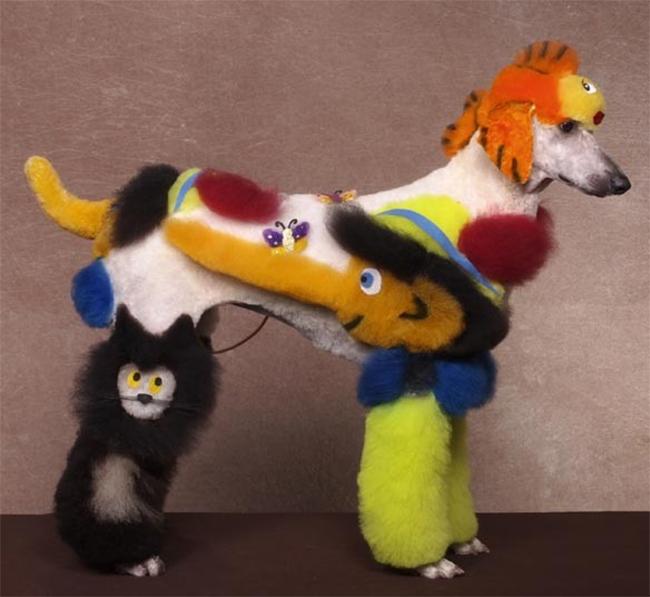 Những chú chó được hóa trang và trang điểm rất kỳ lạ nhưng đẹp mắt để tham gia một cuộc thi tại Hershey, Pennsylvania.