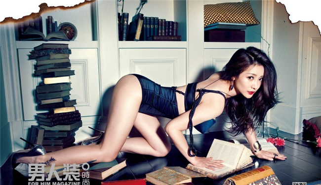 Mới đây, Liễu Nham khoe vóc dáng tuyệt đẹp trên tạp chí cho phái mạnh.