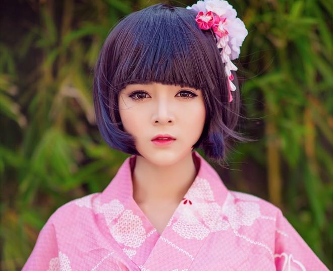 Lily Luta xinh đẹp hóa thân thành cô gái Nhật - 1