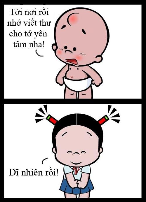 Truyện tranh hài hước về baby: Nhỏ nhưng có võ - 1