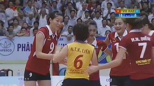 Việt Nam thắng Kazakhstan giành ngôi nhất bảng VTV Cup - 1